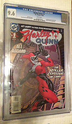 CGC 9.6 Harley Quinn #1 *White Pages*1st Harely Quinn in her own title*2000