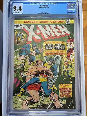 CGC 9.4 X-Men #86 *White*1974*New Case*