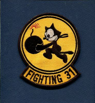 VF-31 VFA-31 TOMCATTERS FELIX US NAVY F-14 TOMCAT F-18 HORNET Squadron Patch