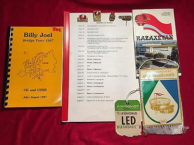 Billy Joel 1987 USSR Bridge Tour Film Schedule, Itinerary, Pins, and More!!!