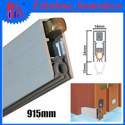 Automatic Door Bottom Seals Aluminum U Type Weather Stripping Length 915mm M010