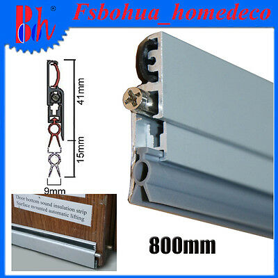 Automatic Door Bottom Seals Aluminum Sealing Weather Stripping Length 800mm M09
