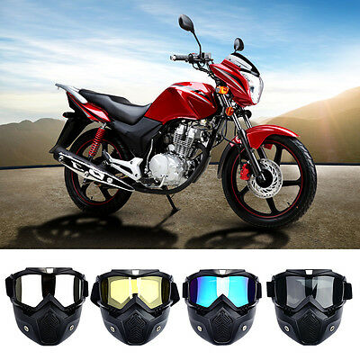 Racing Detachable Modular  Face Mask Shield Goggles Motorcycle Helmet Protective