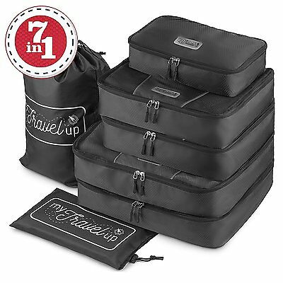 7in1 TRAVEL PACKING CUBES HIGH QUALITY durable waterproof material 2BAGS LAUNDRY