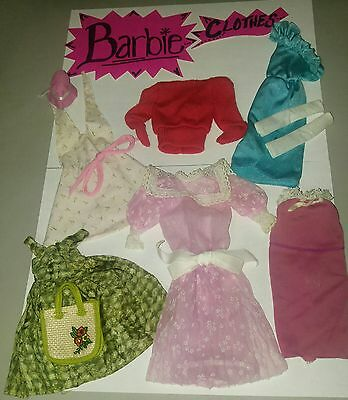 """Barbie """"VINTAGE"""" Black & White Label 10-Pc Mixed Clothing w/Accesry Lot-FREESHIP"""