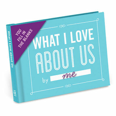 What I Love About Us - Fill In The Blanks Journal- Romantic Anniversary Gift New