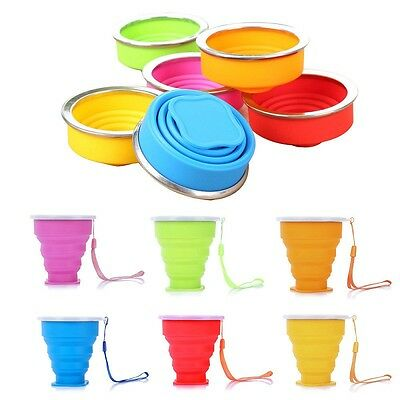 Portable Silicone Telescopic Drinking Collapsible Folding Cup Travel Camping L