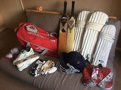 Cricket helmet, Wormwood bat, bag, gloves, pads, shoes for youth CLEAR OUT!!