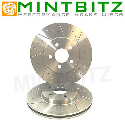 Seat Leon Cupra R 345mm 2.0 Turbo Fsi Front Brake Discs Dimpled Grooved