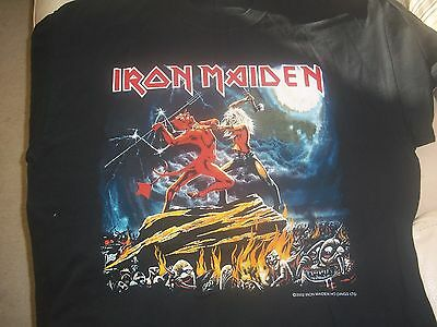 IRON MAIDEN Genuine ORIGINAL Vintage BRIXTON ACADEMY Tour T Shirt CLIVE BURR  02