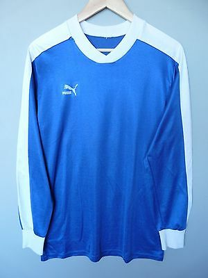 Vtg Puma 80's Football Shirt Trikot Jersey #7 Sz Medium* (344)