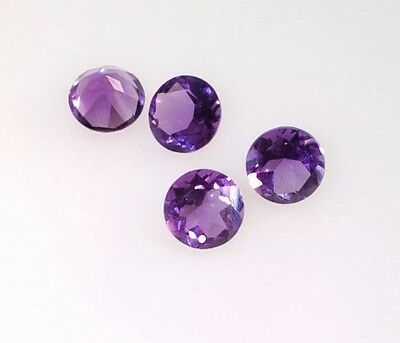 15 Pc Round Cut Shape Natural Amethyst 1.5Mm Faceted Loose Gemstone
