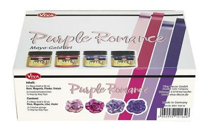 "Viva Decor, Maya-Gold Set ""Purple Romance"", 7-teilig"