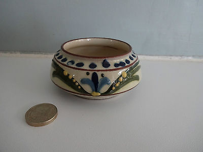 """Vintage Motto Ware Torquay Pottery- Small Sugar Bowl-""""Sweeten for yourself"""""""