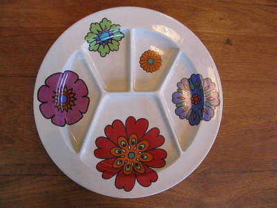 Villeroy & Boch Vintage Retro 70s 5 sectioned Fondee snack party dish plate