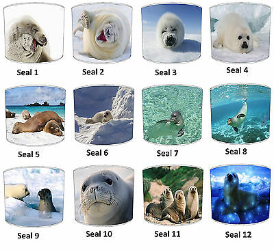 Baby Seal Lampshades Ideal To Match Baby Seals Duvets Covers & Seal Wallpaper.
