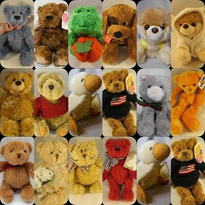 selection of small Gund soft toys