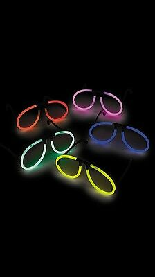10 x Glow in the dark Glasses - Party Festival Disco Rave Glow Stick Party Bags