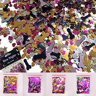 Willy Table Scatter Hen Party Do Confetti Sparkle Decoration Cute Hearts Stars