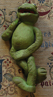 BENDY KERMIT THE FROG! VINTAGE MUPPETS TOY! 1977! 35cm! CHARITY!