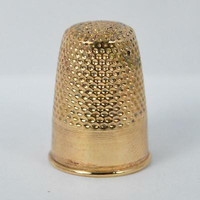 Rare Victorian 15ct Gold Ladies Thimble D1285