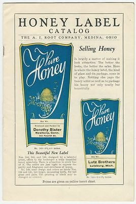 Colorful 1930 A.I. Root Company Honey Label Catalog - Bees & Bee Keeping