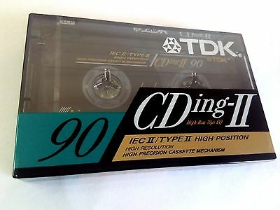 CASSETTE TAPE BLANK SEALED  1x (one) TDK CDing-II 90 [1991] HIGH POSTION