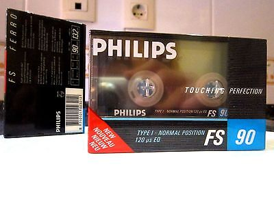 """CASSETTE TAPE BLANK SEALED - 1x (one) PHILIPS FS 90 [1987] """"TOUCHING PERFECTION"""""""