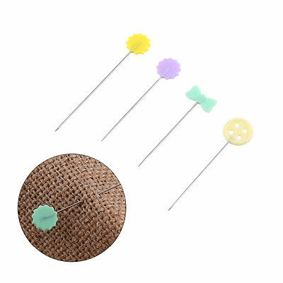 100Pcs/lot Flower Button Bowknot Patchwork Pins Needles Sewing Quilting Marking