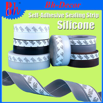 Silicone Rubber Door Bottom Seals Self Adhesive Sealing Strips Weather Stripping