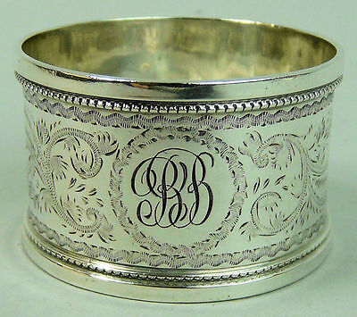 Antique Victorian Fine Silver Napkin Ring Birmingham 1900 - 22 Grams