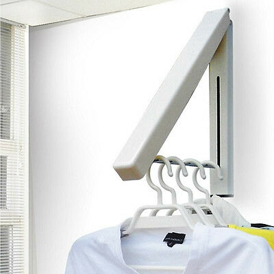 Yaekoo Collapsible Wall Mounted Retractable Foldable Clothes Rack Storage Holder