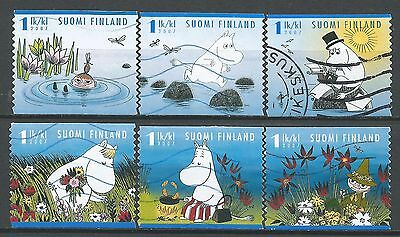 ˳˳ ҉ ˳˳FI09 Finland Animation Cartoons Mumins - 6 different 2007 Complete set