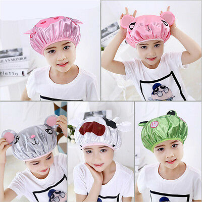 1pc Lovely Waterproof Cartoon Animal Shower Cap Bath Hat Hair Protector 5 Styles