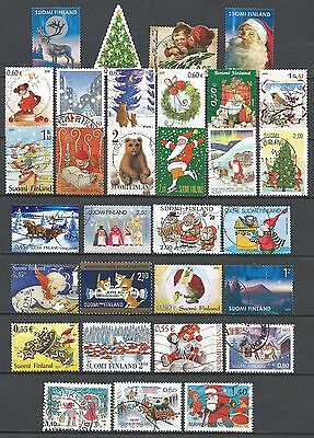 ˳˳ ҉ ˳˳FI01 Finland Christmas Claus Children - 31 different 1976-2013 recent