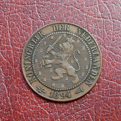 Netherlands 1894 bronze 2½ cents