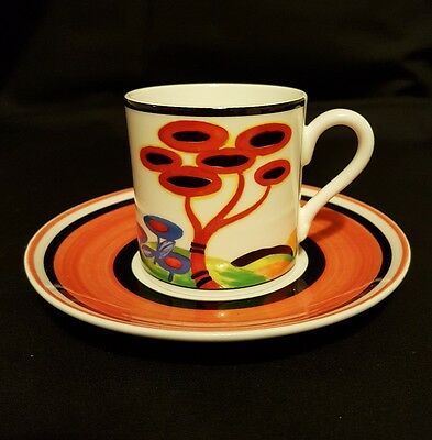 Wedgwood Limited Edition Clarice Cliff Cafe Chic 'Red Tree' Coffee Cup & Saucer