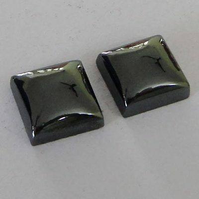 Haematite Cabochon Gemstone Square 2Piece 11x11x5mm 24.5Cts Wholesale # 11331