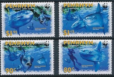 [BIN0117] Penrhyn 2003 WWF Fish good set very fine MNH stamps