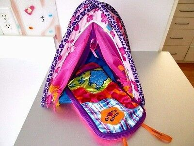 Groovy Girls Totally Tentastic Tent & Sleeping Bag Rolls Up  Lot C7