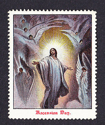 Religion Christian Religious poster stamp cinderella Ascension Day Bible