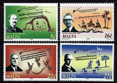 2006 Malta Christmas / Music Complete Set SG 1504 - 1507 Unmounted Mint