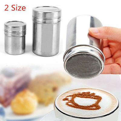 Stainless Steel Chocolate Shaker Icing Sugar Salt Cocoa Flour Coffee Sifter HOT