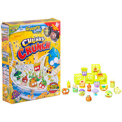 Grossery Gang Chunky Crunch Cereal Box Set 16 ''Grosseries'' Inside Toy New Box