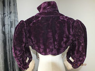 Antique Regency Spencer Style Jacket 1800ths Silk Velvet Lace great condition