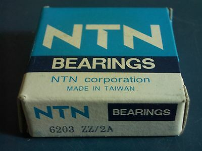 NTN Bearings 6203 ZZ/2A Bearing 17 x 40 x 12 mm Steel Seal BRAND NEW