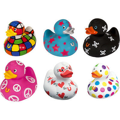 Rubber Bud Baby Duck Bath Play Toy Squeaky Ducky Water Toddler Set Kids Fun Time