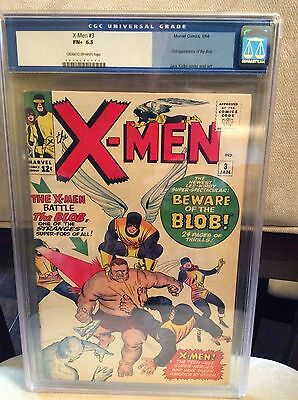 Uncanny X-Men (1963 1st Series) #3 CGC 6.5 1st app of the Blob Kirby