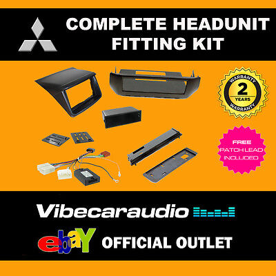 Connects2 CTKMT07 Double Din Stereo Fascia Fitting Kit For Mitsubishi L200 2012>