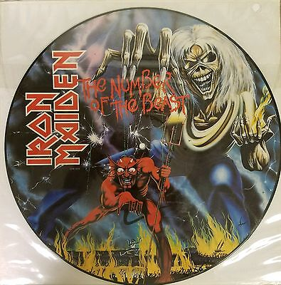 """Iron Maiden """"the Number Of The Beast"""" 12"""" Lp Picture Disc Sealed Vinyl Mint..."""